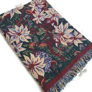 Goodwin Weavers Tapestry Poinsettia Shoulder Throw